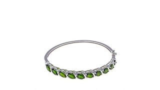 Colleen Lopez 7.5ctw Chrome Diopside Hinged Bangle thumbnail