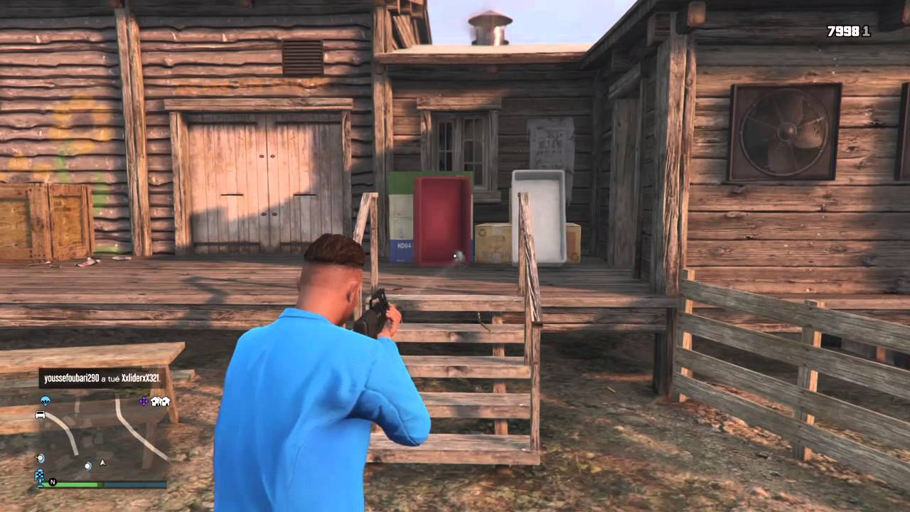 Grand Theft Auto V Attacking nude camp - YouTube