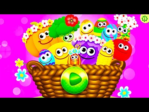 Funny Food Learn Colors and Shapes, Fruit Names for Kids – Kids Best Games