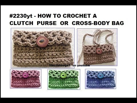 Clutch Purse Or Cross Body Bag Crochet Pattern Bags And Purses