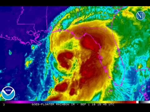 Latest animation of Hurricane Hermine from NOAA and the National Hurricane Center.