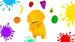 Aprender as cores, os números, as frutas e as formas con Dino o Dinossauro | Aprender em português