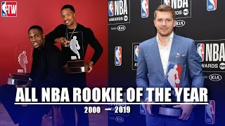 """All NBA """"Rookie of the Year"""" from 2000 - 2019"""