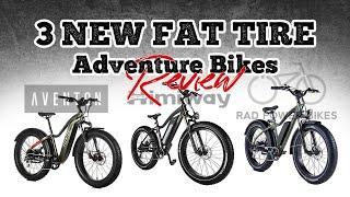 Rad Power vs Himiway vs Aventon Fat Tire Electric Adventure Bikes