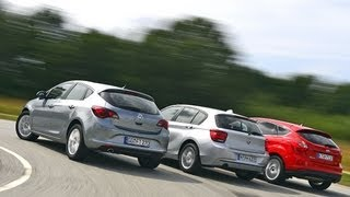 Opel Astra vs. Ford Focus vs. BMW 118i