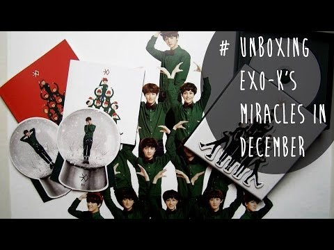 [Unboxing] EXO Miracles In December Special Album Korean Version Review
