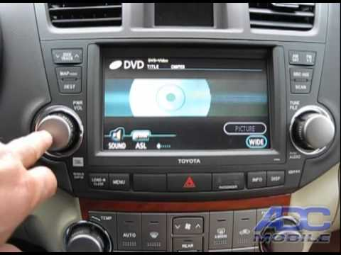 2010 Toyota Highlander Navi Bypass With A V Input Youtube