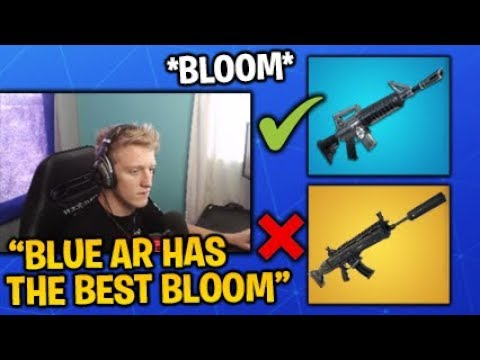 Tfue Explains Why The BLUE AR Is *BETTER* Than The GOLD SCAR In Bloom