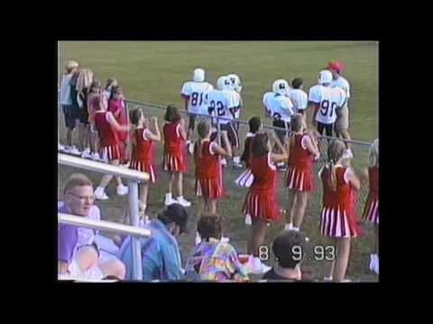 Melody Cheer Leading at a South Rowan middle school football Game