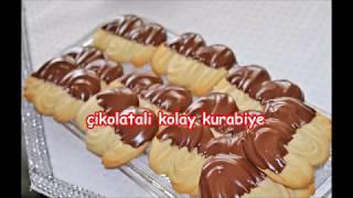 çikolatatli çok az malzemeli kurabiye tarifi yapimi çok kolay