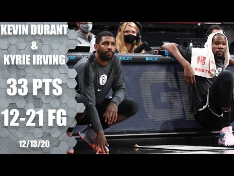 [Highlight] Kevin Durant and Kyrie Irving in their first game together for the Brooklyn Nets, combine to score 33 points in limited minutes