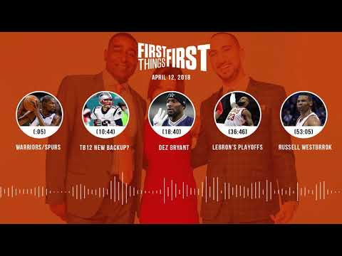 First Things First audio podcast(4.12.18) Cris Carter, Nick Wright, Jenna Wolfe | FIRST THINGS FIRST