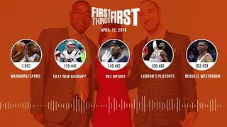 First Things First audio podcast(4.12.18) Cris Carter, Nick Wright, Jenna Wolfe | FIRST THINGS FIRST thumbnail