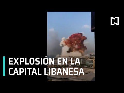 Explosión se registra en el centro de Beirut, Líbano - Expreso de la Mañana