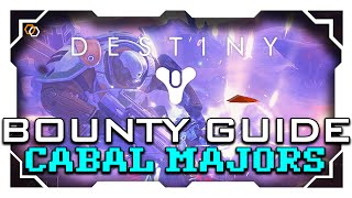 Destiny - Cabal Major Bounty Guide - Fast and Easy Glimmer - Cabal Command Bounty