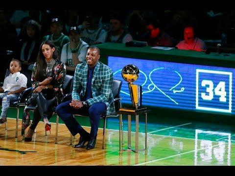 Paul Pierce cracks Cedric Maxwell joke, discusses Boston Celtics jersey retirement