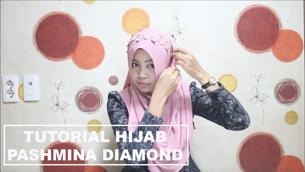 Tutorial Hijab Pashmina Diamond Crepe Youtube