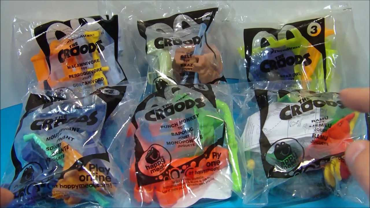 2013 Mcdonald S The Croods Set Of 6 Happy Meal Kid S Movie