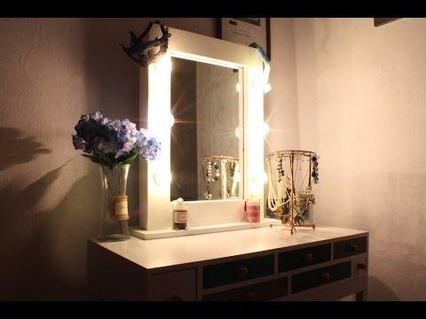 Купить зеркало espresso. Коричневый, зеркало, гримерное зеркало, зеркало с подсветкой, зеркало с лампочками.