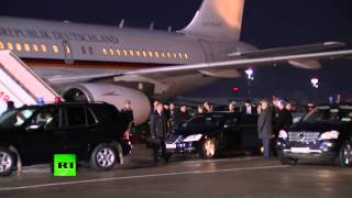 Ангела Меркель прибыла в Москву на переговоры