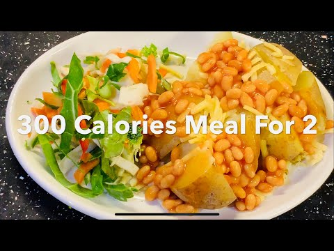 How To Cook 300 Calories Diet Meal For Two | Potato & Salad Recipe | Gluten Free Meal
