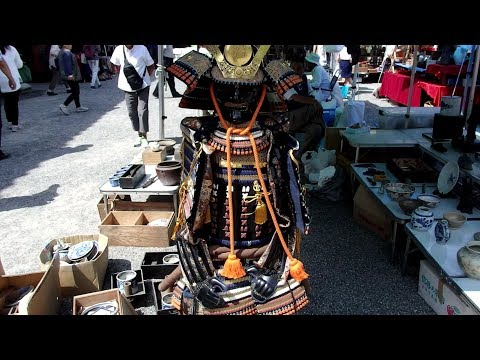 Kyoto Toji 's antique market-Japanese antiques
