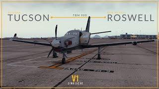 X-Plane 11.32 | TBM 900 | Tucson → Roswell