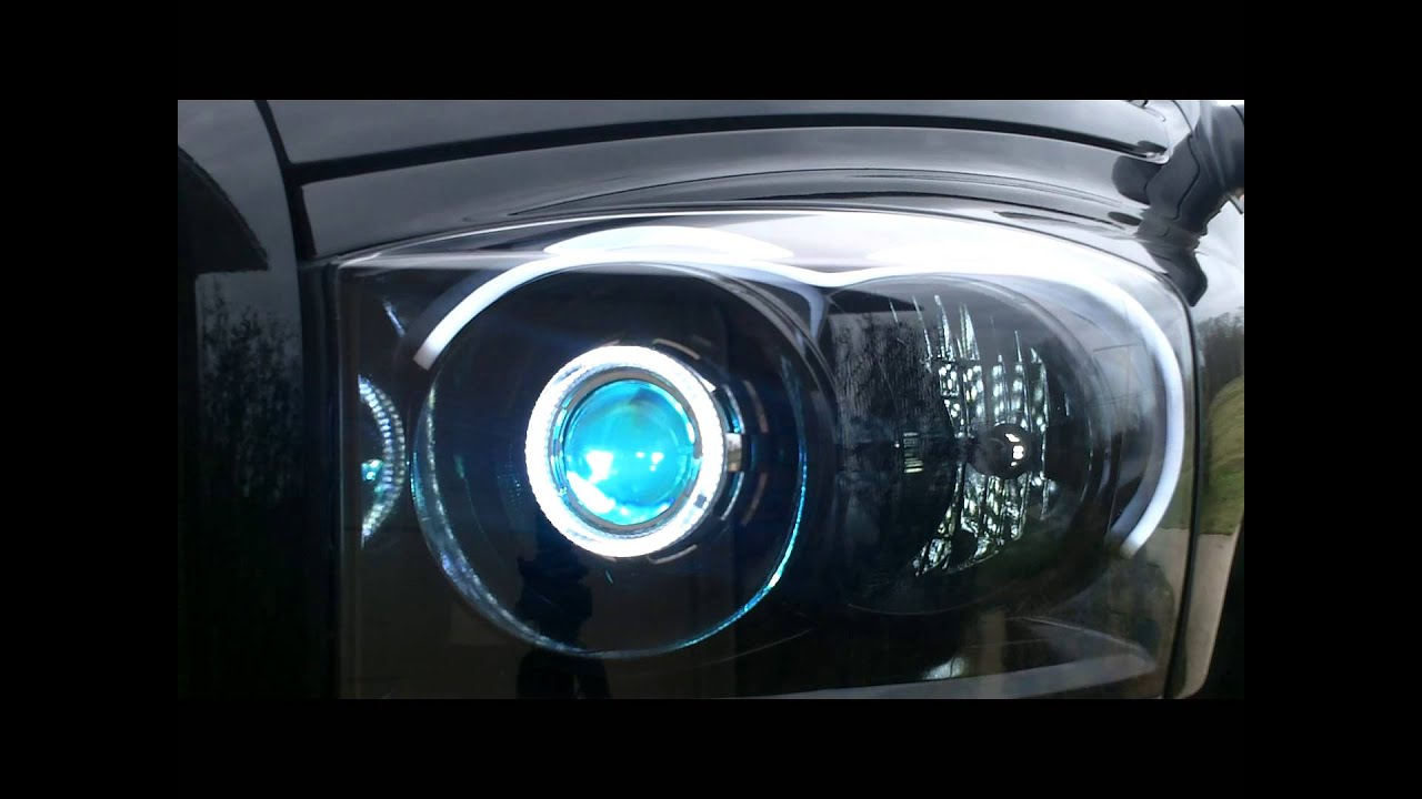 Custom Dodge Ram Switchback Hid Headlights Youtube