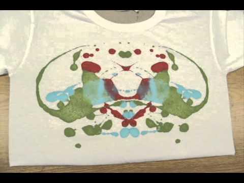 Children's Birthday Party Idea - Kids Summer Camp Activity - Make Ink Blot T-shirts!