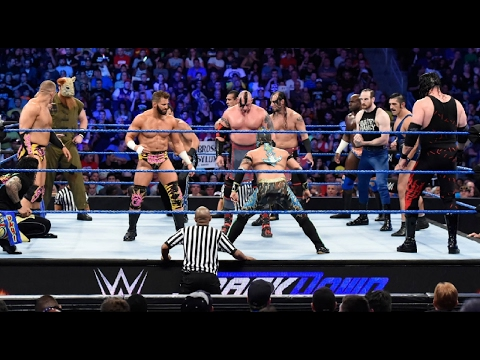 WWE 10 Man Battle Royal No 1 Contender WWE Title Full Match Raw 2017