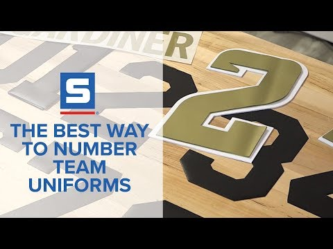 The Best Way to Number Team Uniforms