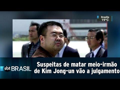 Suspeitas de matar meio-irmão de Kim Jong-un vão a julgamento na Malásia | SBT Brasil (16/08/18)