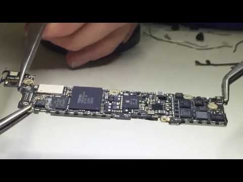 iPhone 5 logic board (long, backside) shield removal in 1 minute.
