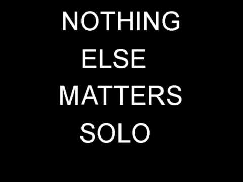 Metallica - Nothing Else Matters Solo Backing Track