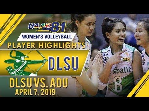 UAAP 81 WV: Jolina Dela Cruz Drops 13 Points In 3 Sets In DLSU Win Vs AdU | April 7, 2019