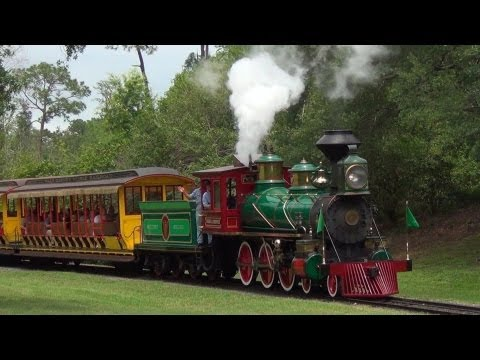 Steam in the Magic Kingdom (Walt Disney World Railroad April 2013)