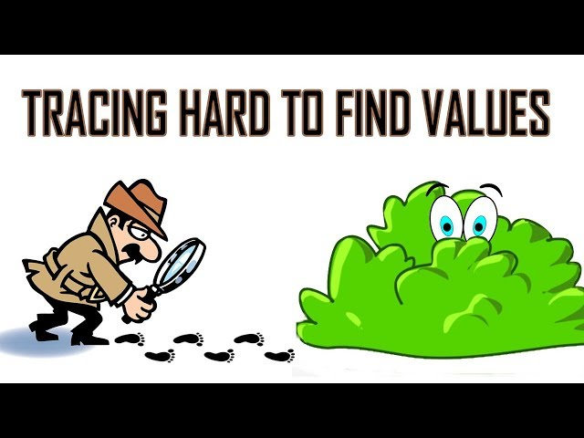Let's Learn To TRACE HARD TO FIND VALUES
