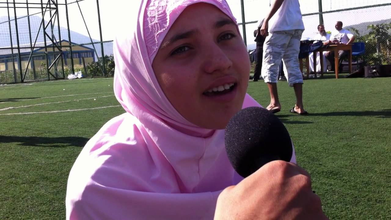 Albanian orphan Girl (ESMARALDA) reciting a beautiful ... Albanian Muslim Girls