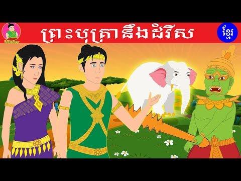 រឿងនិទាន ព្រះបុត្រានិងដំរីស |Princes And White Elephant|Tokata Khmer|Khmer Cartoon Film