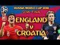 ENGLAND v CROATIA | LIVE SEMI-FINAL REACTION WITH MY GIRLFRIEND! | RUSSIA WORLD CUP 2018 #ENG v #CRO