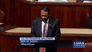 Rep. Al Green (D-TX) files Articles of Impeachment against President Trump (C-SPAN)