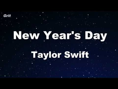 New Year's Day - Taylor Swift Karaoke 【No Guide Melody】 Instrumental