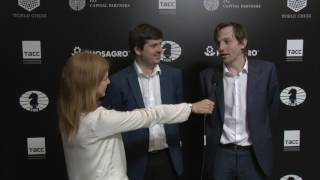 Day 6 Interview with GM Peter Svidler and GM Alexander Grischuk