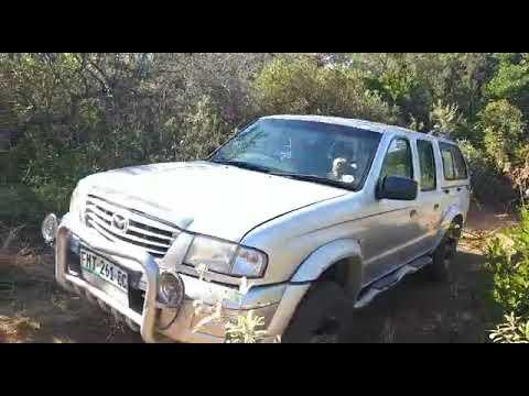 """Mazda Drifter Climbing """"pumpkin Head"""" Sandy Rutted Hill (alternate Angle)"""