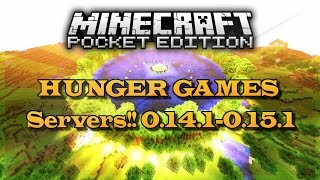 HUNGER GAMES SERVERS!! MINECRAFT POCKET EDITION !!