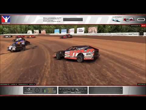 Battling through the pack at Williams Grove UMP Mod