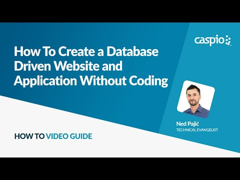 How To Create a Database Driven Website and Application Without Coding