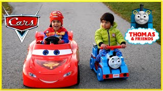 PLAYGROUND FUN Family Fun Playtime Thomas the Tank Engine POWER WHEELS Disney Cars Lightning McQueen