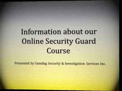 Information about our Online Security Guard Course