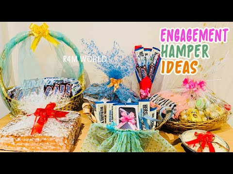 Engagement Hamper Ideas | Tutorial of Handmade Hamper | Engagement Hampers | Engagement Gift Ideas